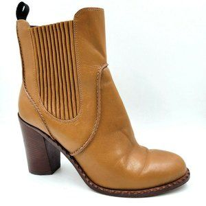 Marc Jacobs Brown Leather Chunky Heel Chelsea Boot